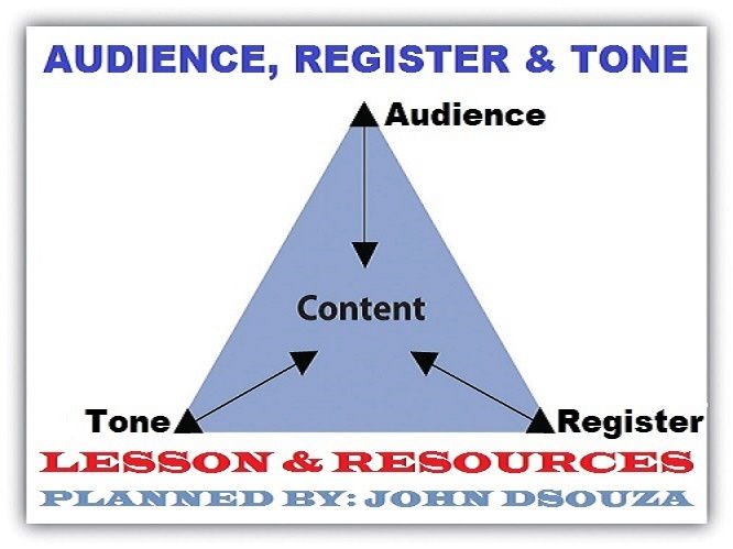 AUDIENCE, REGISTER, TONE - READING SKILLS: LESSON & RESOURCES