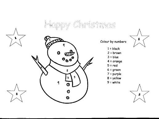 Colour by Numbers Christmas Card