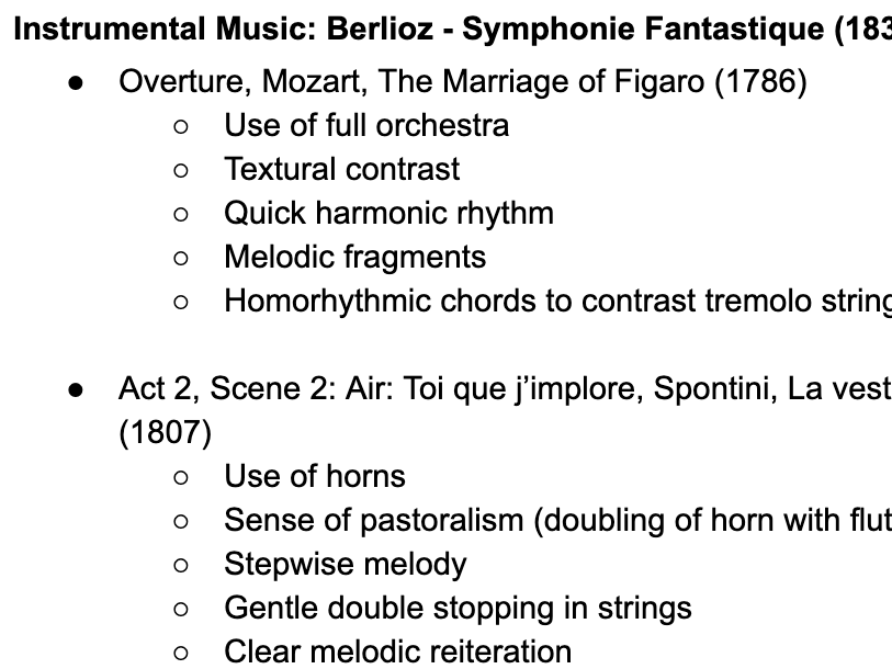 Edexcel A Level Music: Berlioz Further Works