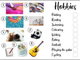Games and Hobbies Photo Sheets