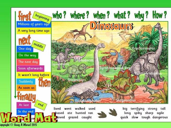 Dinosaurs - Word Mat