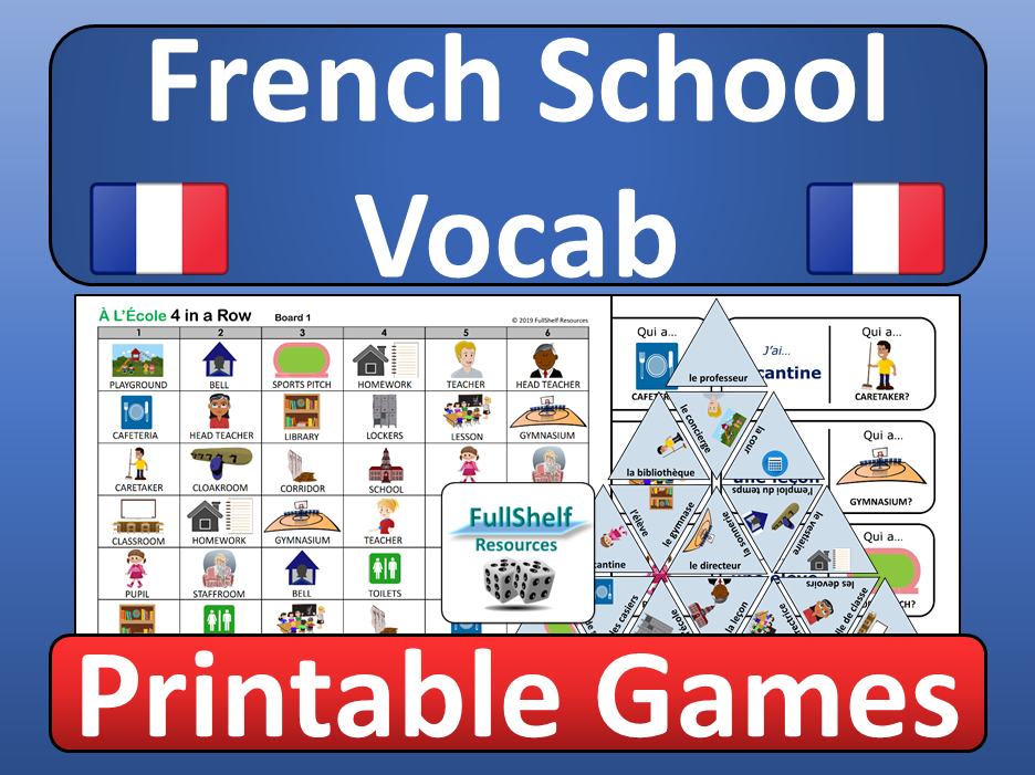 French School Vocabulary Games