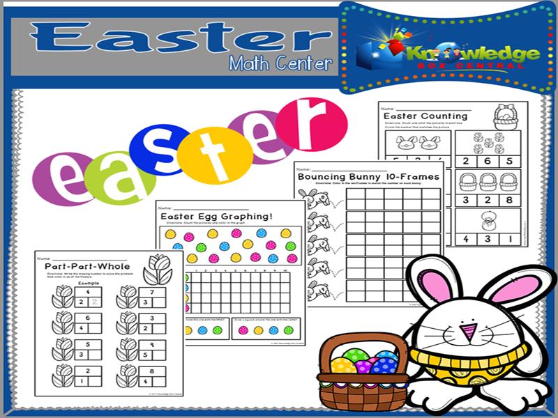 Easter Math Center for Kindergarten