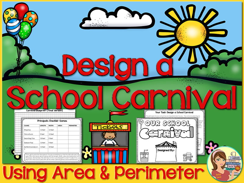 Project Based Learning: Area & Perimeter {Design a School Carnival}