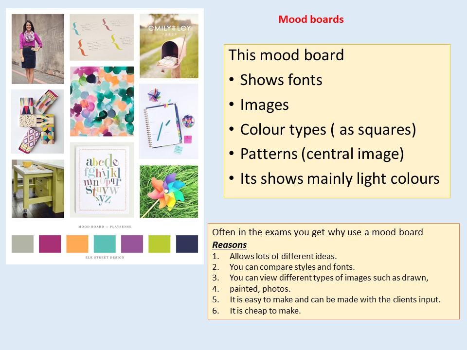 Creative iMedia / Mood board, mind maps, visualisation diagrams