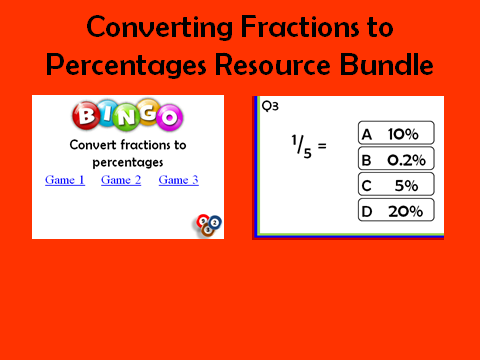 Fractions to Percentages: 2 resources