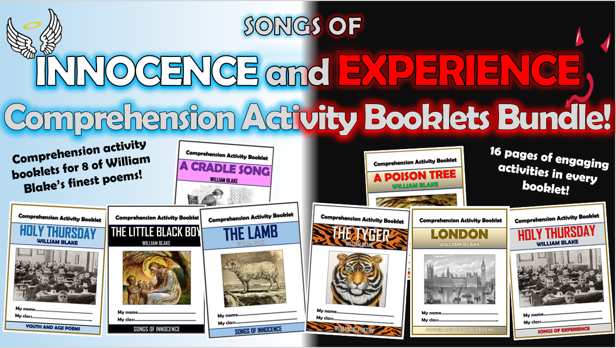 Songs of Innocence and Experience - Comprehension Activity Booklets Bundle!