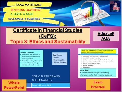 Unit 2, Topic 8 Ethics and Sustainability: Certificate in Financial Studies (CeFS)