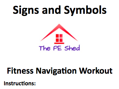 Signs and Symbols Fitness Navigation - The PE Shed