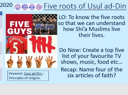 Five roots of Usual ad-Din. Shi'a Islam