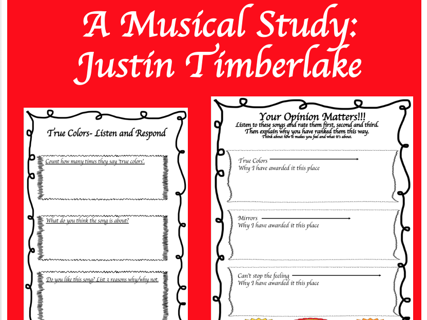 Reading and Understanding: Justin Timberlake