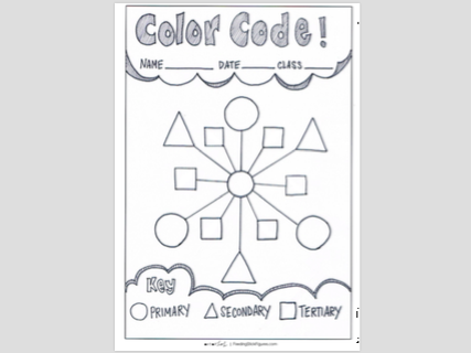 'Colouring with Shapes' | Learning the Colour Wheel