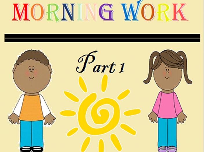 Kindergarten Morning Work Part 1 October