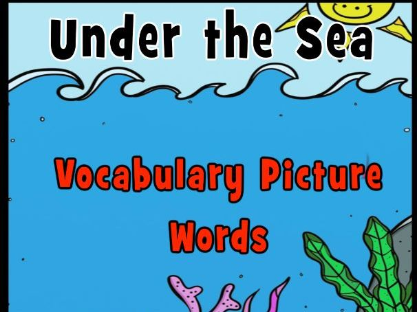 Under the Sea Picture Vocabulary Words