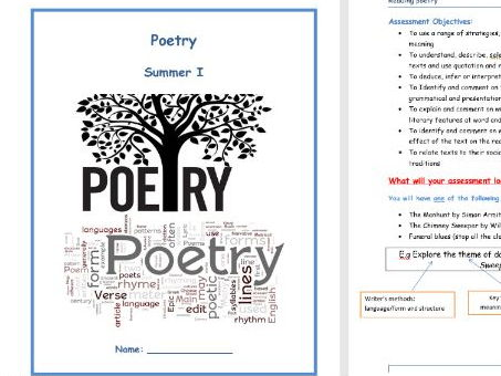 Exploring Modern poetry (An introduction to poetry for KS3) Whole unit