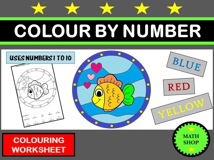Colour by Number Fish