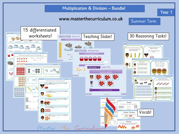 Year 1 Multiplication and Division Bundle White Rose Style
