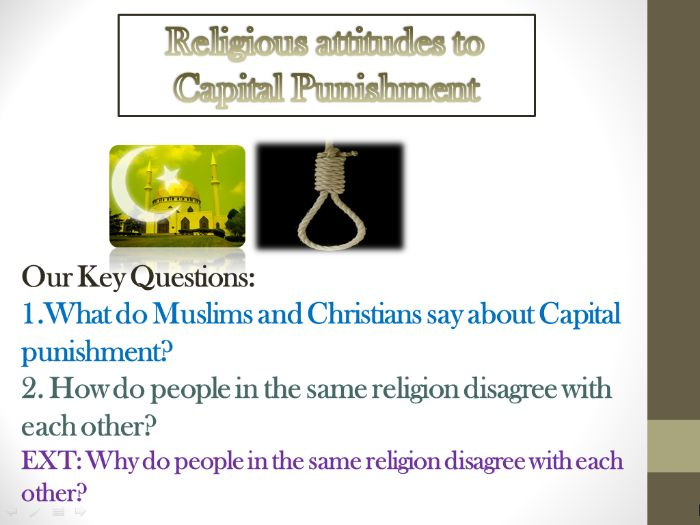 Religious Attitudes to Capital Punishment