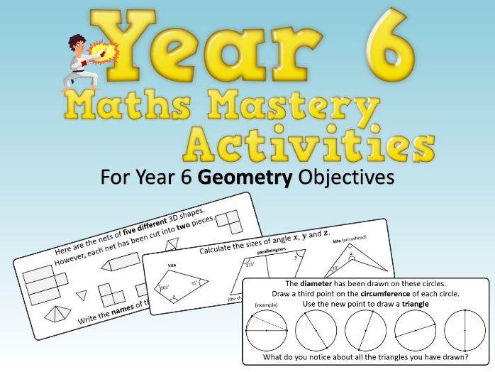 Geometry Mastery Activities – Year 6