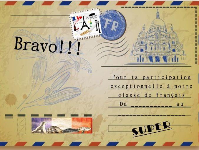 General French certificate 13/ Certificat de francais 13