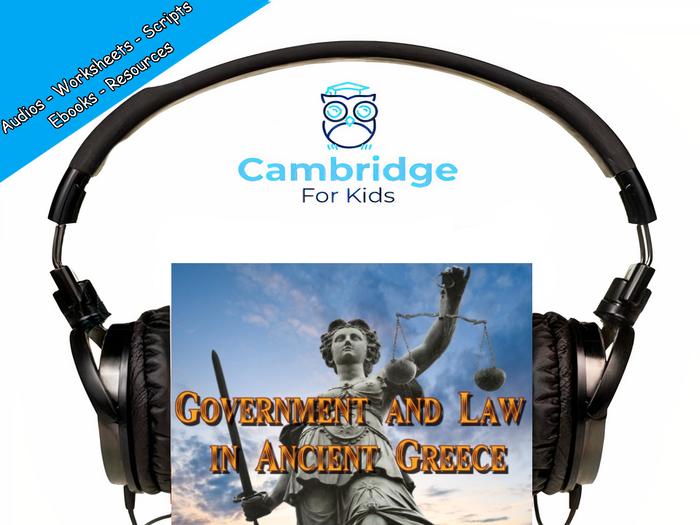 Ancient Greek Government Audiobook & Comprehension Activities / Worksheets / eBooks