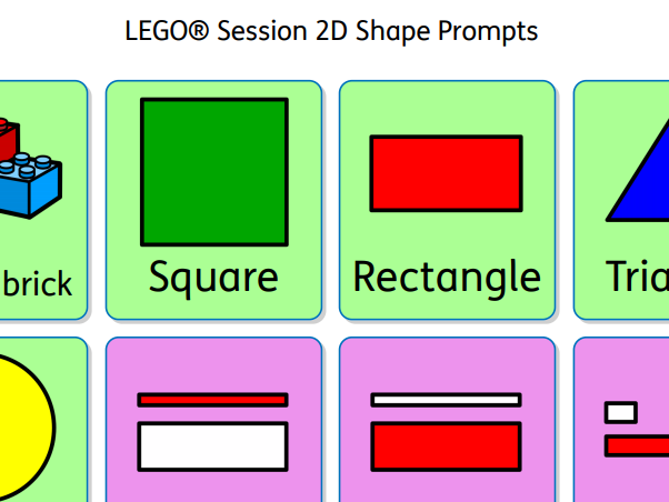 LEGO® Session 2D Shape Prompts