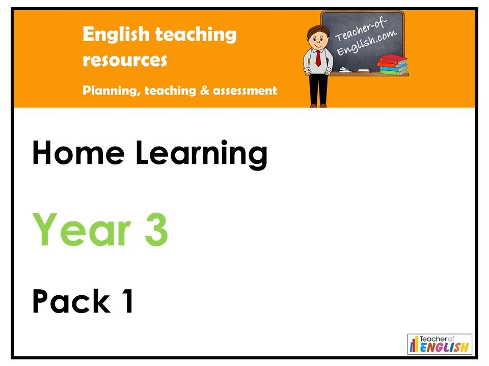 Year 3 English - Home Learning Pack 1