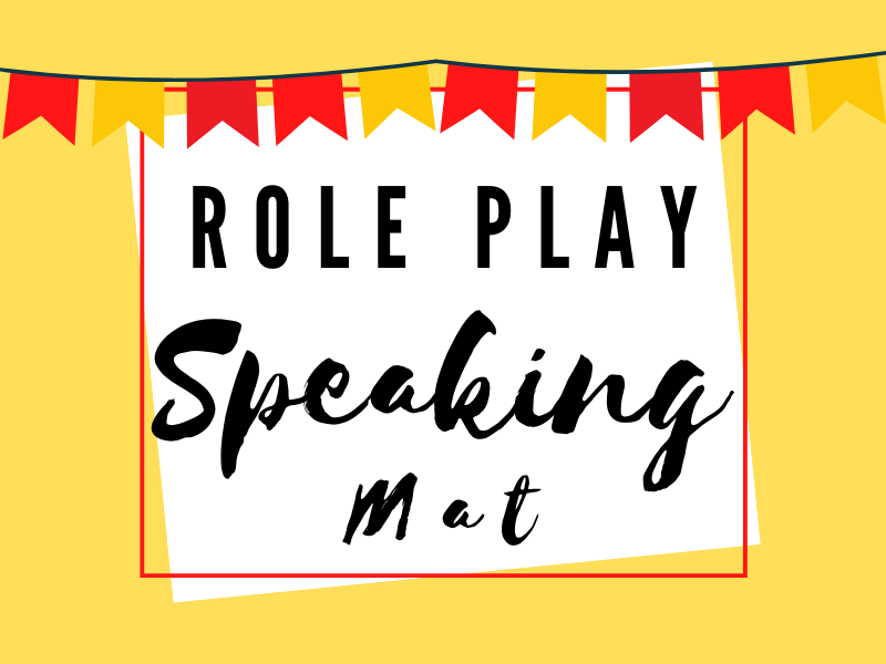 Role Play Speaking Table Mat