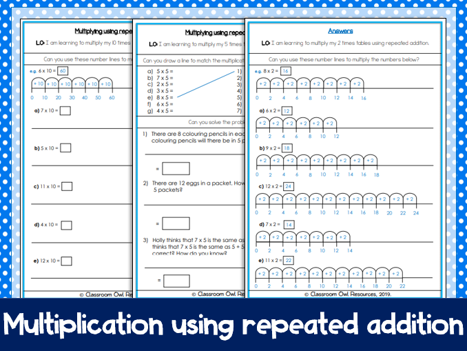 Year 2 Maths: Multiplication using repeated addition