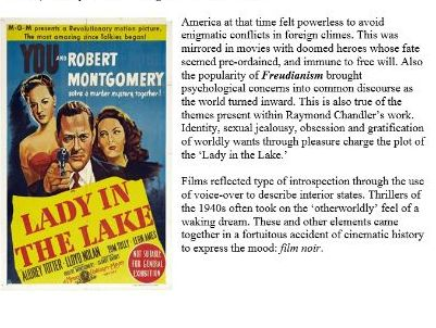 Raymond Chandler's The Lady in the Lake