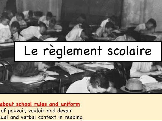 10.1F Le règlement scolaire KERBOODLE.