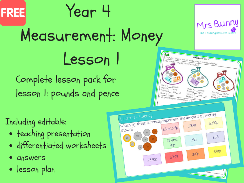 1. Measurement: pounds and pence lesson pack (Y4)