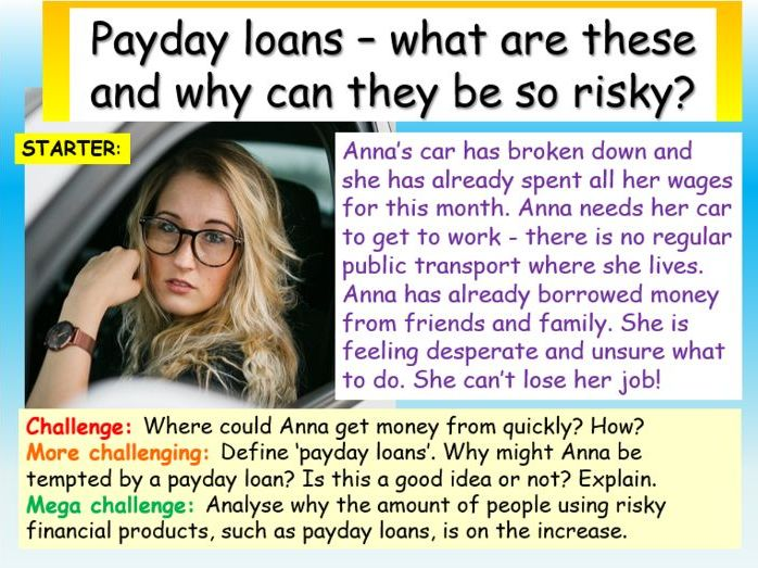 Payday Loans + Debt