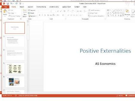 Economics - Positive Externalities