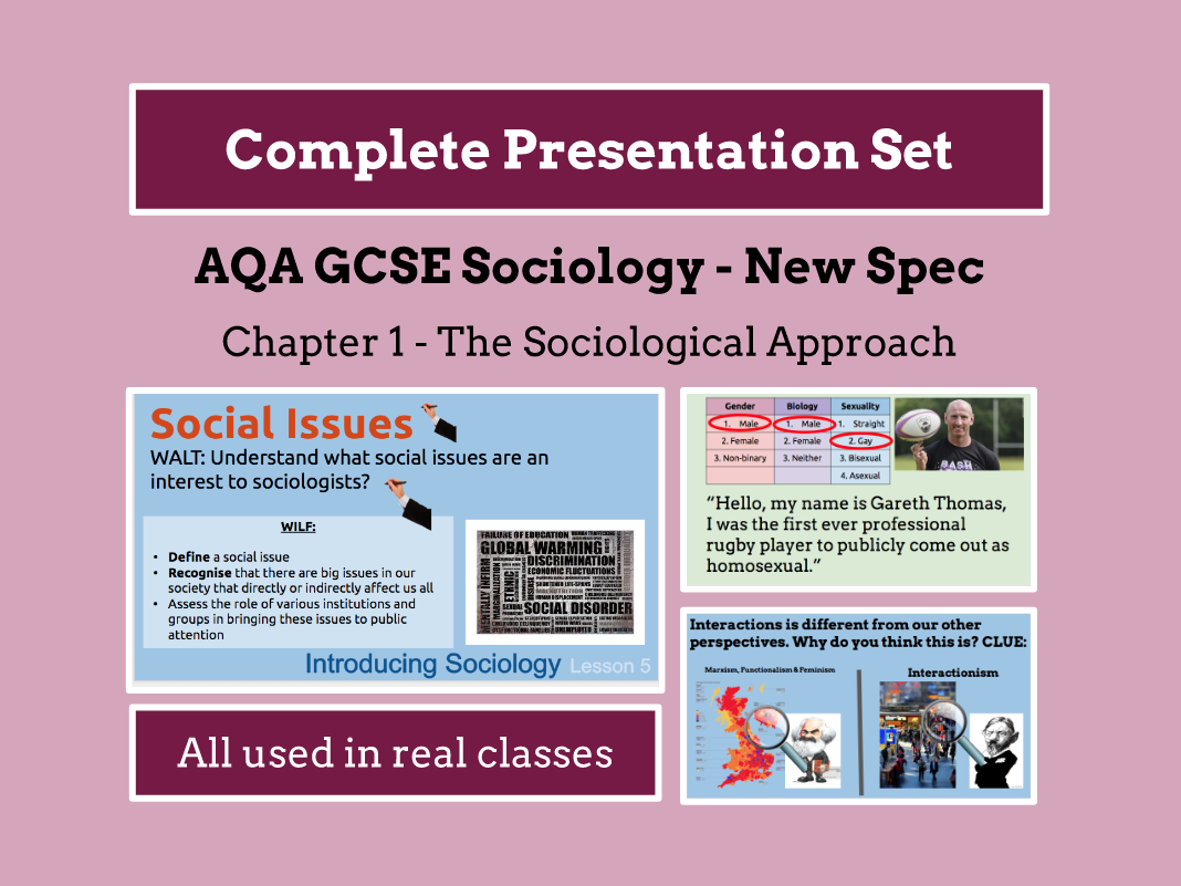 AQA GCSE SOCIOLOGY NEW SPECIFICATION - Unit 1 - The Sociological Approach