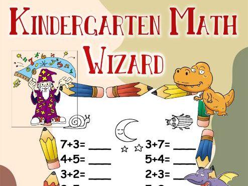 Kindergarten Math Wizard Coloring Book