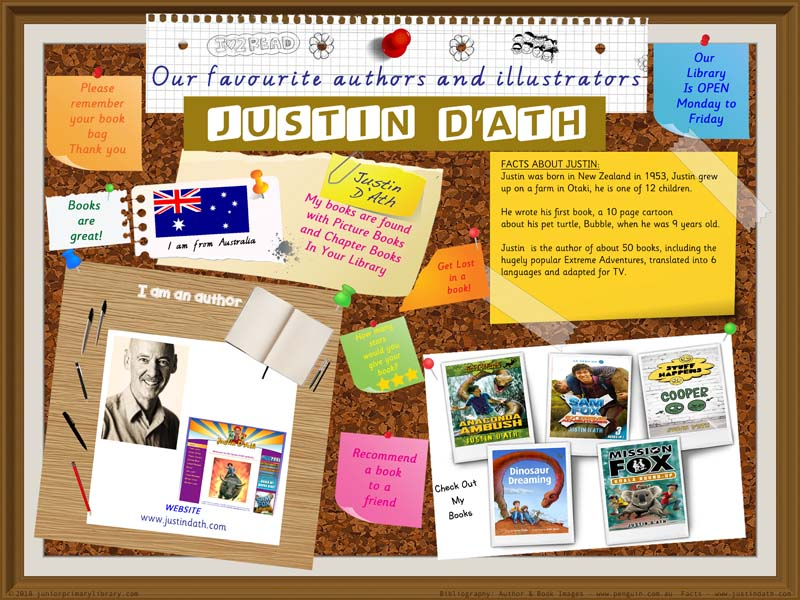 Library Poster Hi Res - Justin D'Ath Australian Children's Author