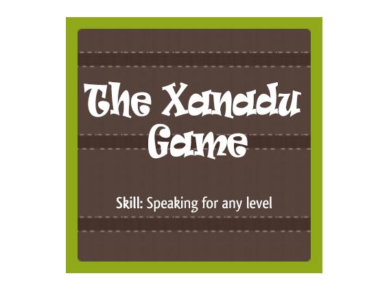 The Xanadu Game - pair work activity for EFL ESL speaking skills development