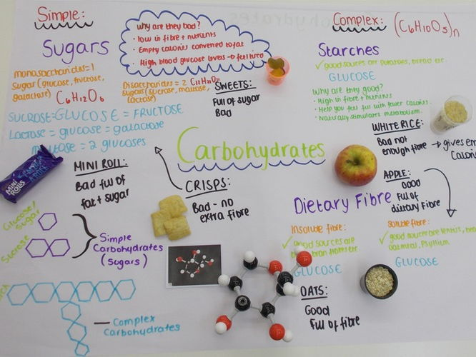 Carbohydrates simple and complex lesson observation
