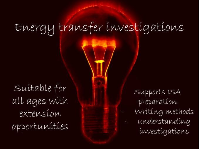 Energy transfer investigation methods - HSW