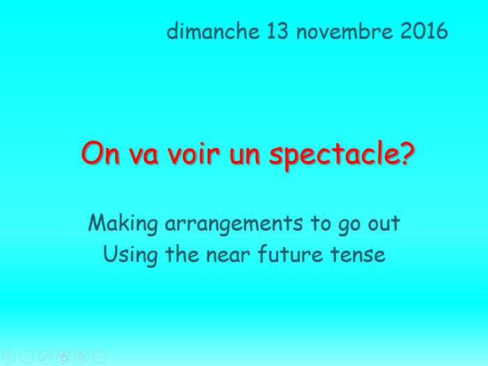 On va voir un spectacle? NEW AQA GCSE Studio Higher Module 1 Unit 3 Activities