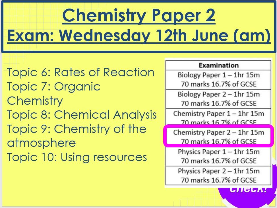 Chemistry Paper 2 Revision AQA Triology Foundation