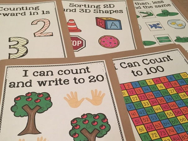 Kindergarten Math File Folder Activities