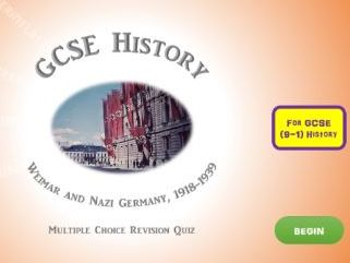 GCSE History Revision Quiz: Weimar and Nazi Germany, 1918 - 1939