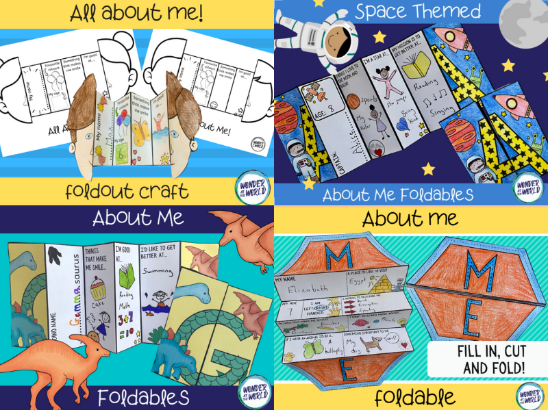 All about me foldable activity bundle