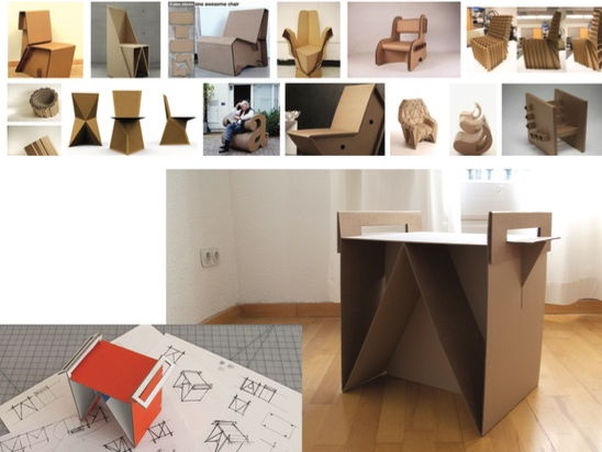 Product Design - Ikea Flat Pack Cardboard Furniture Project
