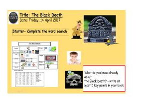 EAL/SEN/Primary Black Death Full Lesson