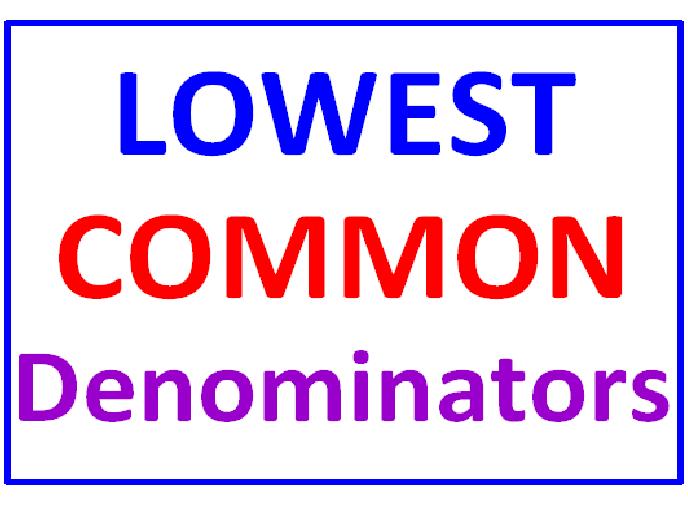 Lowest Common Denominators (Set of 2)
