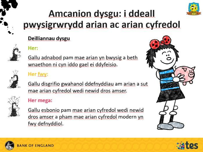 Lesson 2 Money and me - What is money (Welsh curriculum & language)