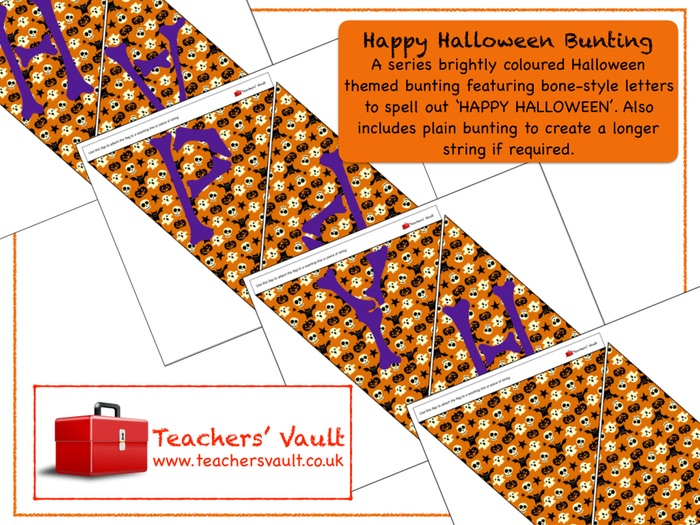 Happy Halloween Triangle Bunting